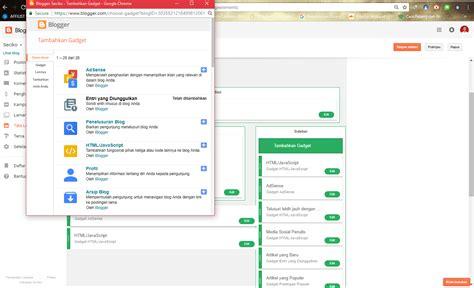 layout dan tata letak tutorial cara membuat menu navigasi di blogspot melalui
