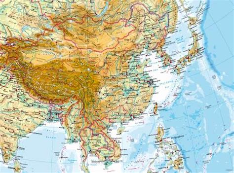 east asia physical map maps east asia physical map diercke international atlas