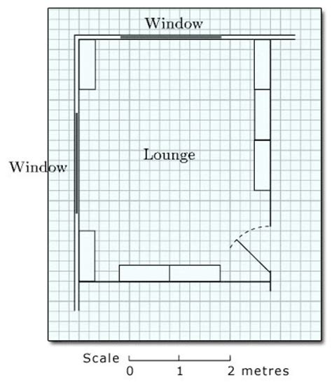 draw a room to scale diagrams charts and graphs