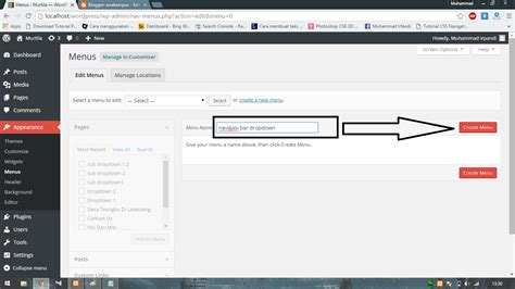 membuat navigasi wordpress cara membuat menu navigasi dropdown di wordpress blogsipan