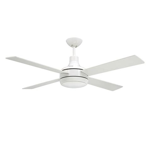 Quantum Ceiling By Troposair Fans Pure White Finish With Ceiling Fan With Light