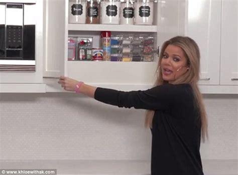 Organize Kitchen Cabinets Khloe Kardashian Reveals More Of Her Organized Kitchen
