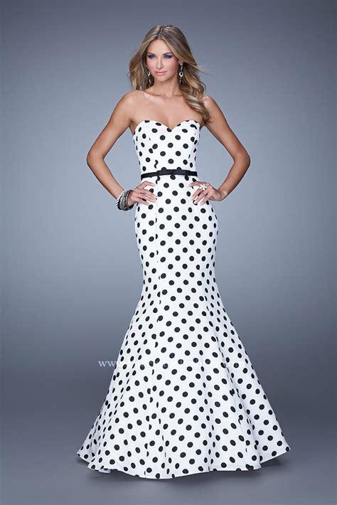 Dress Mermaid Polka la femme 21180 polka dot mermaid dress novelty