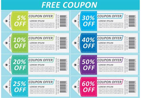 Voucher Promo scissors coupon vector sheet free vector stock graphics images