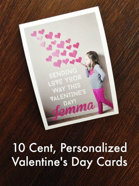 personalized valentines day cards 10 cent personalized s day cards