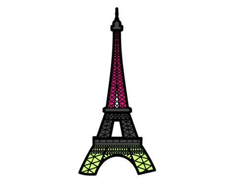 Colored Eiffel Tower colored page eiffel tower painted by user not registered