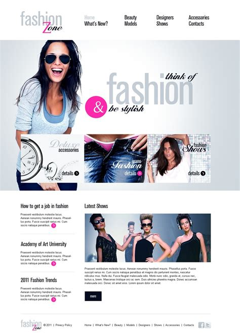 clothing web themes fashion website template 34020