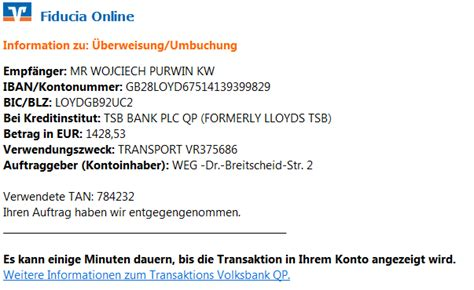 fiducia bank phishing mail alerts fiducia volksbank transaktionscode