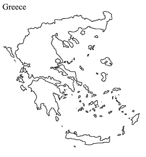 Historical Outline Map 7 Ancient Greece Answers by Blank Map Greece Printable