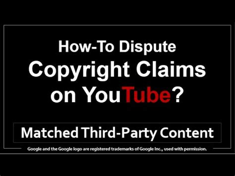 how to dispute copyright claims on
