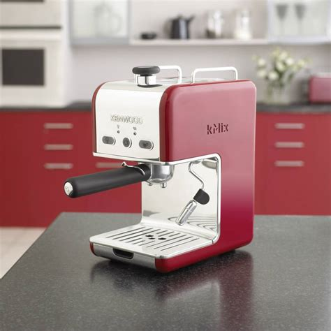 kenwood kmix espresso espresso machine kenwood es021 kmix raspberry red 1100 w