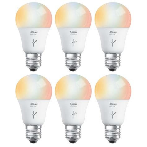 daylight led light bulbs sylvania osram lightify 60w a19 daylight rgb smart led