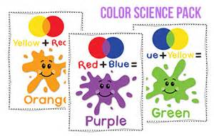 color science color preschool printables