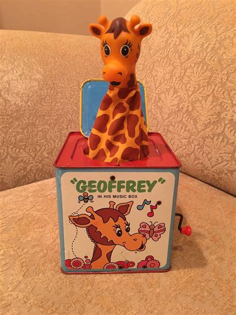 in the box toys r us 1975 mattel geoffrey giraffe in his box toys r us metal