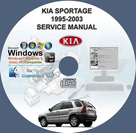 kia sportage 1995 2003 service repair manual on cd www
