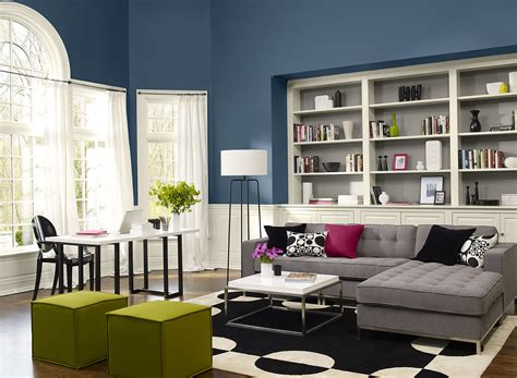 harmonios modern living room color schemes and paint colors 2015 modern living room with blue paint color scheme green