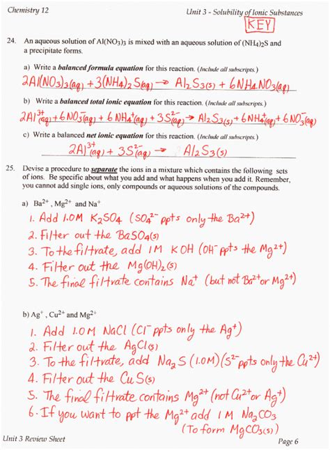 Reactions Involving Acids And Bases Worksheet Answers