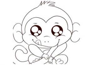 free printable monkey coloring pages for