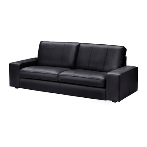 black couch ikea kivik three seat sofa grann bomstad black ikea