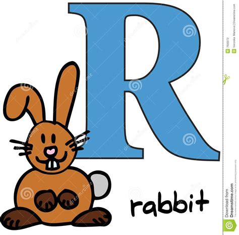 R Rabbit animal alphabet r rabbit stock photography image 7600072