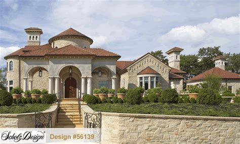 luxury house plans designs siena manor b 135 56139 mediterranean home plan at