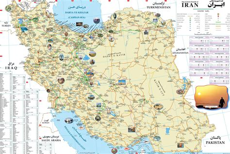 map or iran maps update 22311667 iran tourist attractions map