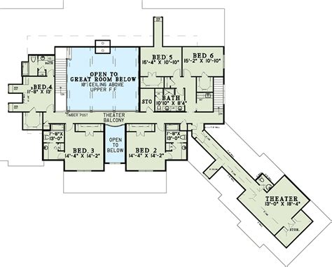 6 bedroom floor plans six bedroom house plan with style 60651nd 1st floor master suite butler walk in pantry cad