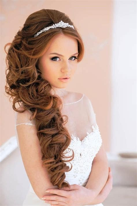 elegant hairstyles for a bride 20 wedding hairstyles with tiara ideas curly wedding