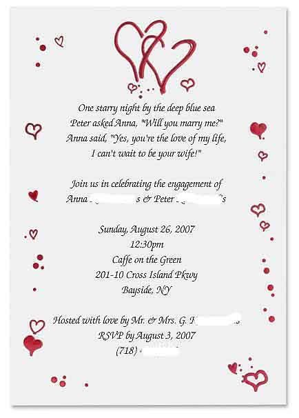 fun engagement party invitation wording engagement