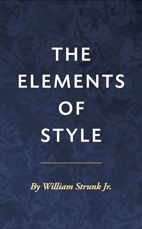 the elements of style books free the elements of style pdf by william strunk