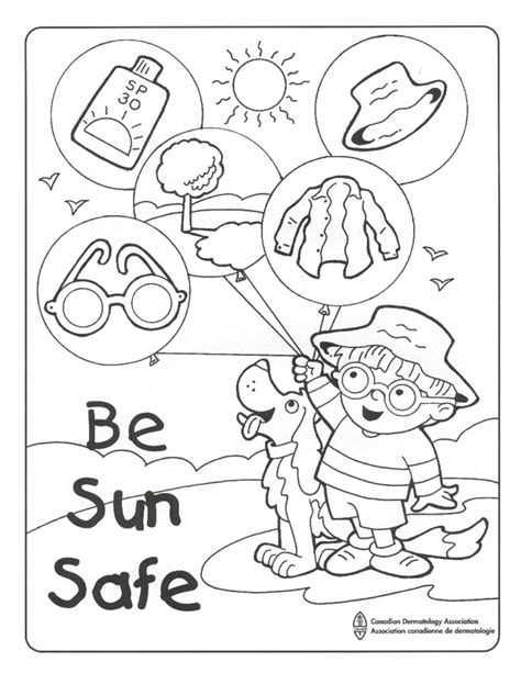 sun safety coloring pages az coloring pages