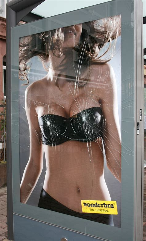 wonderbra ambient advert by publicis i the