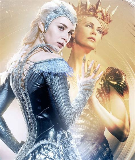 emily blunt trailer emily blunt plays charlize theron s ice queen of a sister