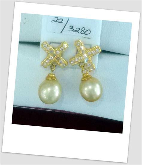 anting mutiara emas 0031 south sea pearl necklace price