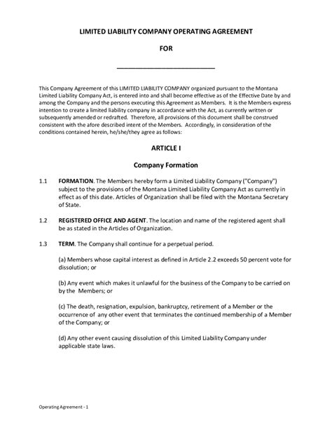 company operating agreement template limited liability company operating agreement edit fill