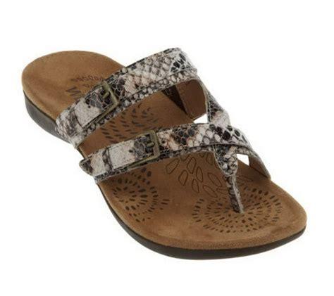 qvc orthaheel shoes vionic w orthaheel spirit ii orthotic leather sandals