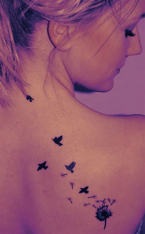 birds flying tattoo 40 dandelion birds tattoos