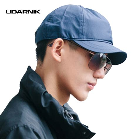 short vintage cap cut hairstyle men women short brim baseball cap golf trucker hats casual