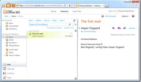 Office 365 Outlook Folders Userfriendly Shared Mailboxes In Office 365 Microsoft