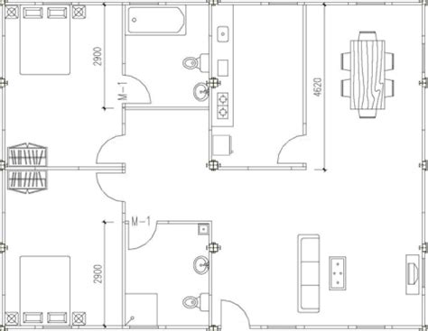 Two Bedroom House Map by Transportable Two Bedroom House