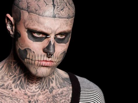 zombie boy tattoo boy heavily tattooed montreal model known for work