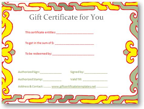 reward certificate templates the gallery for gt gift certificate border