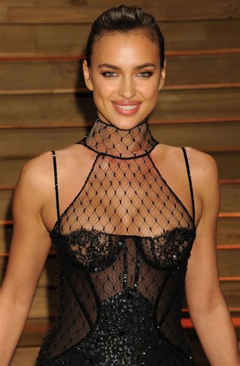 Vanity Fair Clothing Company irina shayk at 2014 vanity fair oscar party celebzz