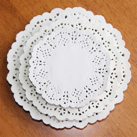 Paper Doyleys 14 5 Termurah Paper Doli Paper Dolly 120 pcs white lace paper doilies doyleys vintage coasters placemat craft wedding