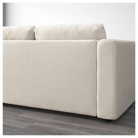 ikea fabric sofa vimle 3 seat sofa with open end gunnared beige ikea
