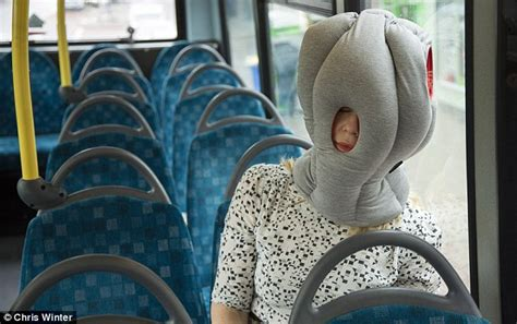 bonkers ostrich pillow hat lets you snooze anywhere