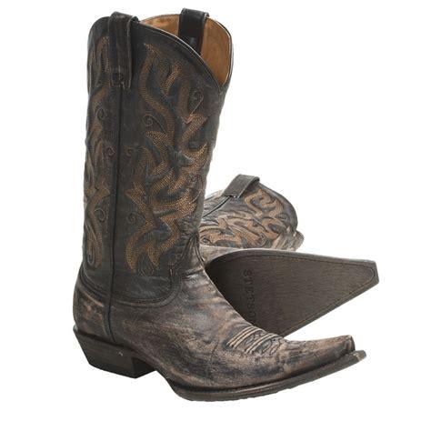 mens grey cowboy boots stetson fashion snip toe cowboy boots for cowboy