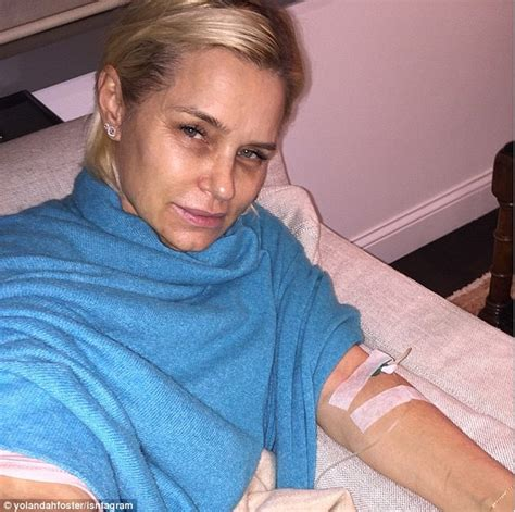 whe did yolanda foster contract lime disease yolanda foster receives flowers at her bedside in