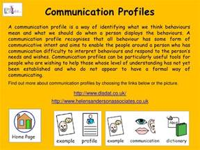 communication profile template 1 the aac self assessment tool kit