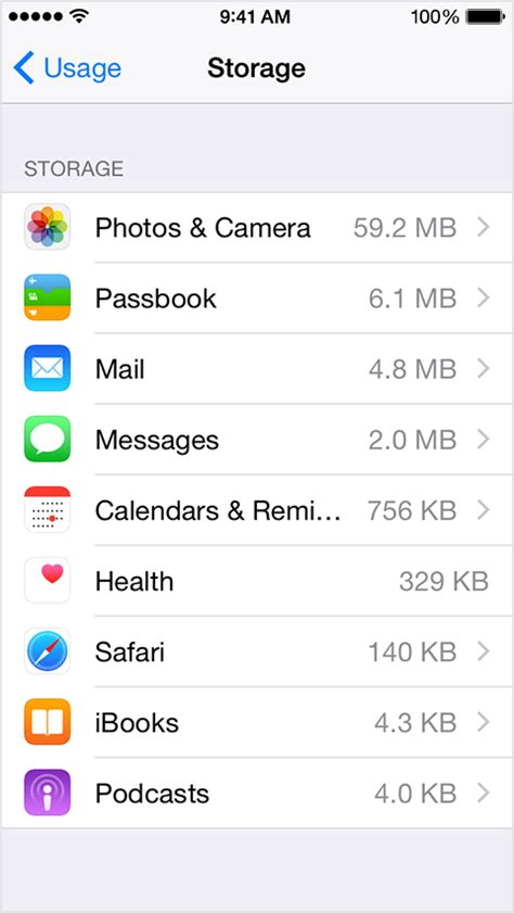 iphone storage usage see how much storage you ve used on your iphone and ipod touch apple support